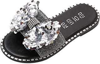 Slippers for Toddler Girls,Kids Bling Sequins Crystal Princess Slipper Shoes Sandals