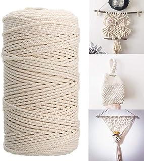 Macrame Cotton Cord, HOME-MART 100M 4mm Macrame Rope for Knittin,Cotton Yarn Crafting,Macrame Cord,Cord DIY Craft,Crafts, ...