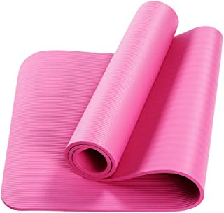 CWM 10mm Thick Yoga Mat Non-Slip Exercise Mat Pad with Carrying Strap Mesh Bag for Home Gym Fitness Workout Pilates