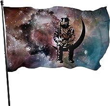 HAPPFPC Astronaut Airwaves Flag,Brass Grommets Vivid Color 3x5 Feet Home Decoration, Garden Decoration, Outdoor Decoration.