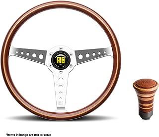 MOMO California Wood Steering Wheel + Trofeo Wood Shift Knob CAL36WD0P + TROMAG