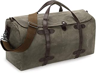 Travel Tote Duffel Weekender Bag Waxed Canvas Leather Carryon Luggage