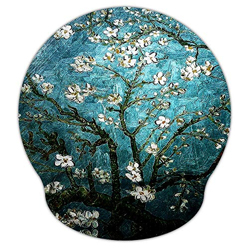 Mouse Pads for Computers Van Gogh Ergonomic Memory Foam Nonslip Wrist Support-Lightweight Rest Mousepad for Office,Gaming,Computer, Laptop & Mac,Pain Relief,at Home Or Work