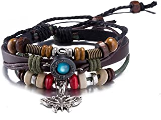 Yellow Chimes Stylish Charm Leather Bracelet Wraps Butter Fly for Women and Girls