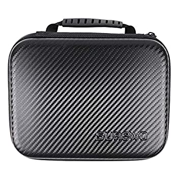 SUREWO Surface-Waterproof Carrying Case Compatible with GoPro Hero 9/8/7/ 2018 /6/5/4 Black,Hero 3+,DJI Osmo Action,AKASO/Campark/YI Action Camera and More  Medium