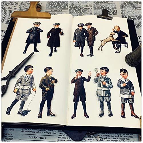 Blour Vintage kleine kinderstickers DIY album, scrapbook, knutselen, dagboek, stickers, decoratie, pakket doe-het-zelf fotoalbums, 20 stuks