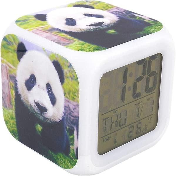 BoFy Led Alarm Clock Little Adorable Panda Personality Creative Noiseless Multi Functional Electronic Desk Table Digital Alarm Clock For Unisex Adults Kids Toy Gift
