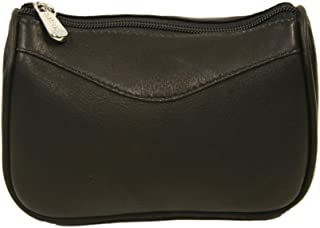 Piel Leather Carry-All Zip Pouch, Chocolate, One Size
