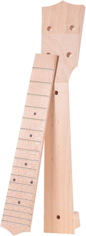 KJGHJ Trastes Mástil de Guitarra Eléctrica Cuello De 24 Pulgadas Y 18 Frascos Diapasón con Dots Negros INLAYE para LUTHIER Mini Guitar Guitar Piezas DE DIY Cuellos De Guitarra