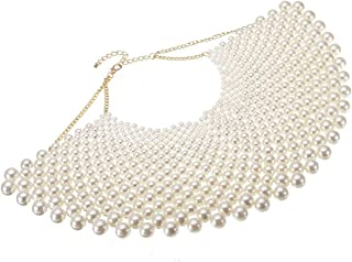 Bib Collar Necklace Chunky CCB/Crystal/Pearl Resin Beads Chain Choker Statement Necklace Womens Fashion Jewelry Necklace