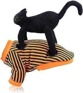Lazder Disfraz de Halloween para mascota, divertido disfraz de perro, gato, disfraz de perro y gato, forro polar con capucha