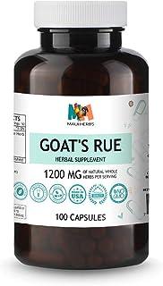 Goat's Rue Vegan Capsules, 1200 MG, Organic Goat's Rue Herb (Galega officinalis)