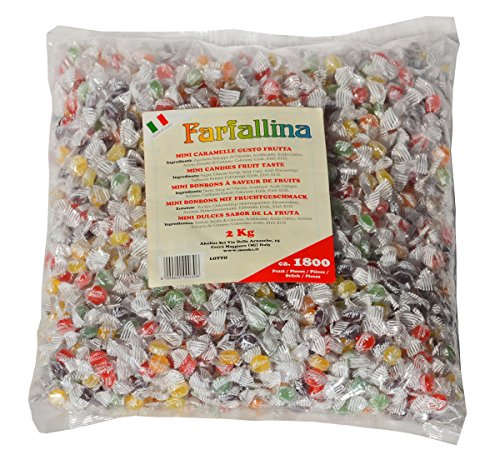 CARAMELLE di FRUTTA colorate Mini Farfallina Monk's 2 Kg