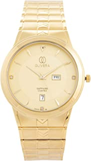 Olivera Dress Watch for Men, Analog, Stainless Steel Band, OG2452