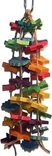 Star Grazing Bird Toy, Wood Stars, Multi-Color, Sm-Med