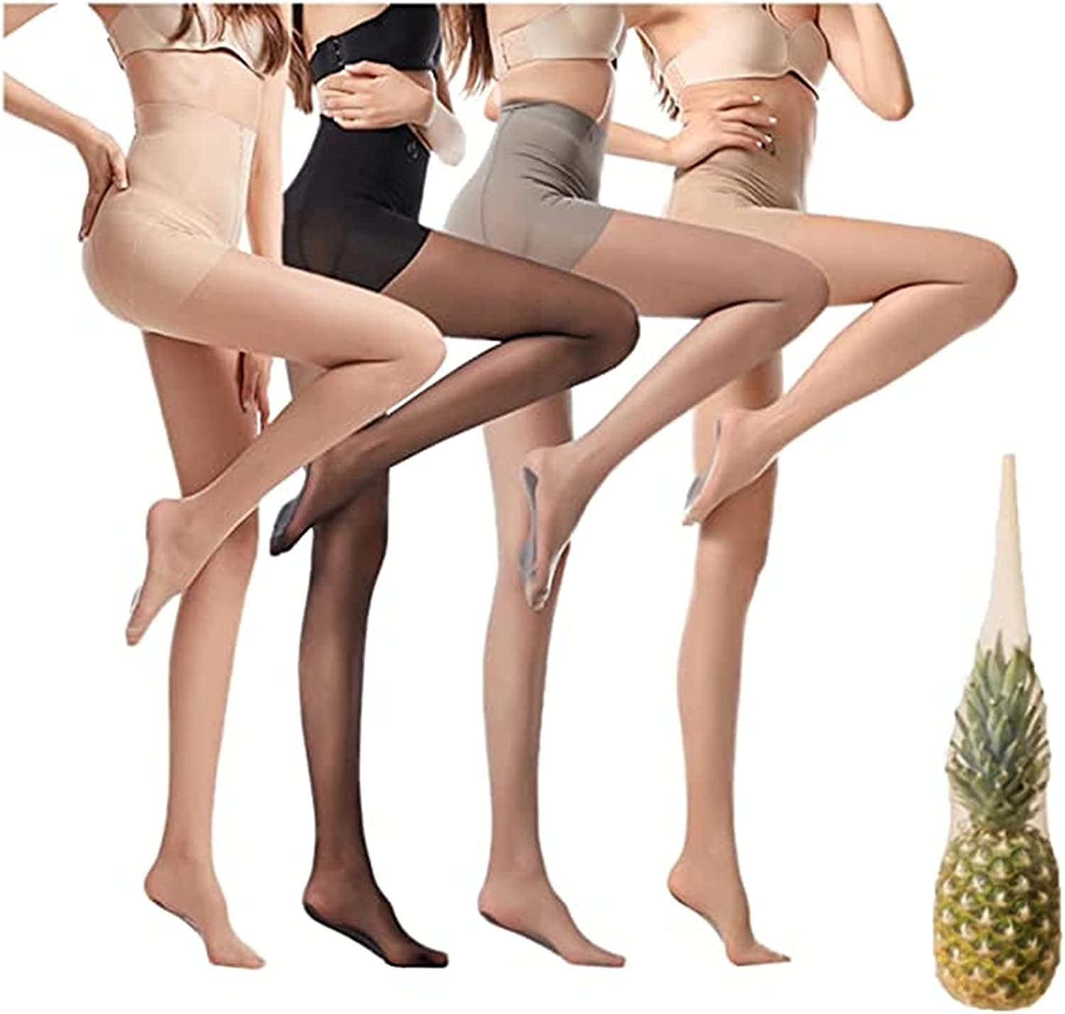 MTDBAOD Universal Stretch Anti-Scratch Stockings,Sexy Sheer Tights Silk Stockings,Top Pantyhose with Reinforced Toes,Ultra Invisible High Waist Pantyhose for Women