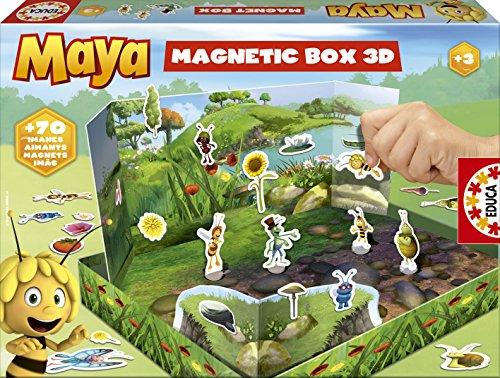 Educa - 15098 - Jeu de Société - Nouvelle Malette Magnétique Maya L'Abeille 3D