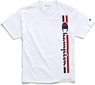 Champion Mens Graphic Jersey Tee, M, Vertical White