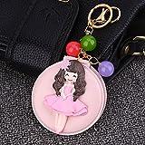 Baby-lustiges Spielzeug Mini-Mädchen-Form-Handspiegel-kleine Glasspiegel für das Handwerks-Dekorations-kosmetische Zusatz-Rosa