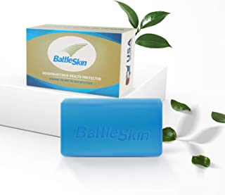Battleskin Bar Soap Tea Tree Soap, Antifungal Soap for Women/Men Help Yeast Infections, Jock Itch, Athlete's Foot, Body Odor, Ringworm, Skin Irritations with Natural Tea Oil, Lavender Oil, 6 Ounce