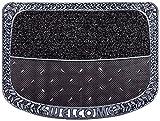 CarFashion 257190 PUR, TwinClean – Fussmatte, Türmatte, Fußabtreter, Schmutzfangmatte, Sauberlaufmatte, Graphit-Metallic Oberfläche, Scraper-Noppen mit robustem Textilbelag, Größe ca. 75 x 57 cm
