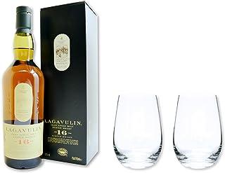 Lagavulin Whisky Single Malt Scotch 16 Jahre 43% 0,7 im Set mit 2 Tumbler Gläser
