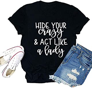 Women It is Just A Bunch of Hocus Pocus Letter Print Tops Casual Short Sleeve Tee T-Shirt