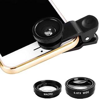 mymotto 3 en 1 Ojo de pez Gran ángulo Macro cámara Lente Kit Clip para el teléfono Celular móvil Cables