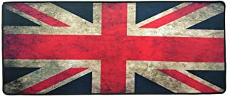 United Kingdom Gaming Mouse Pad - Size 70x30 CM For Keyboard and Mouse - Anti Slip Rubber Base Stitched Edges Speed Surfac...