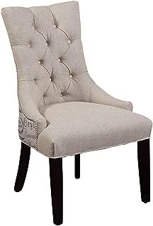 Bassett Mirror Company Fortnum Tufted Nailhead Parsons Chair - Set of 2