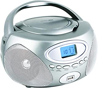 HANNLOMAX HX-311CD Portable CD/MP3 Boombox, PLL AM/FM Radio, USB Port for MP3 Playback, Aux-in, LCD Display, AC/DC Power S...