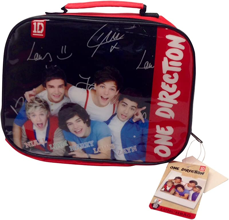 One Direction Signature Autograph Red Brands Rectangle Lunch Bag