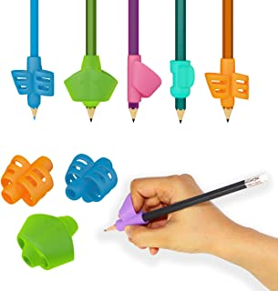 Pack of 6 Pencil Grips - Pencil Grippers Hand Writing Tools - Ergonomic Writing Aid Training Aid for Kids, Adults, Righties
