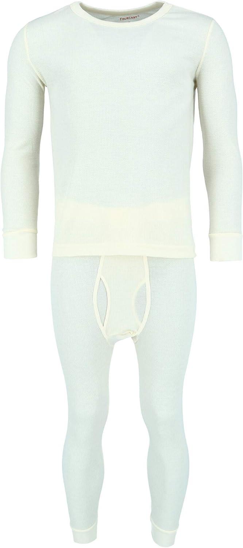 CTM Men's Thermal Underwear Top and Bottom Set