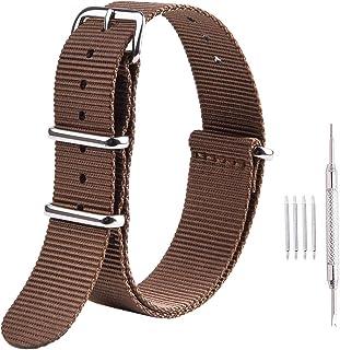 Ritche Premium NATO Strap 18mm 20mm 22mm Nylon Replacement Watch Band for Men Women