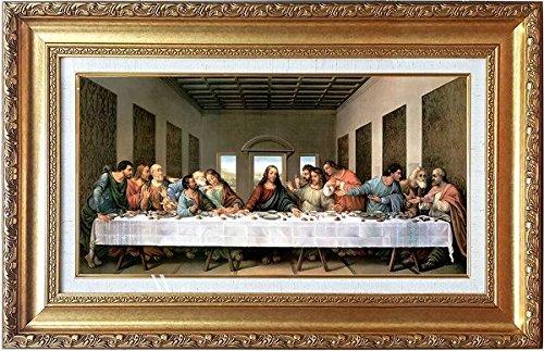 レオナルド・ダ・ヴィンチ[世界の名画コレクション]『最後の晩餐』複製画 人物画 宗教画 キリスト イエス・キリスト メシア 救世主 ユダ 聖書 最後のばんさん 食事風景 ダヴィンチコード イタリア ダヴィンチ ダビンチ【複製 絵画】【B2817】
