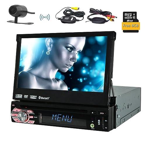 Caméra sans fil inclus! Eincar simple DIN GPS voiture DVD Lecteur CD Autoradio Support SD / USB / AUX / iPod Bluetooth Connexion 7 pouces à écran tactile