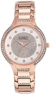 Badgley Mischka Swarovski Crystal Accented Rose Gold Watch - 34mm