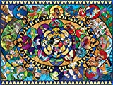 Ceaco Disney Classics II Oval Stained Glass Jigsaw Puzzle, 1500 Pieces