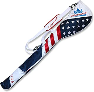 Craftsman Golf Stars and Stripes American USA US Flag Club Case Sunday Bag Red White Blue for 6-7 Clubs 49
