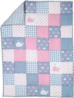Colcha Edredón Reversible Manta Bebé Blanket Baby Quilt Rosa Manta Bebé Algodón Orgánico By Rajrang