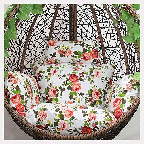 XIAOLIN Cojín de Silla de Swing, Colgante de Huevo de ratán, Almohadilla de Hamaca con Almohada, jardín de Patio (Solo cojín) (Color : 01)