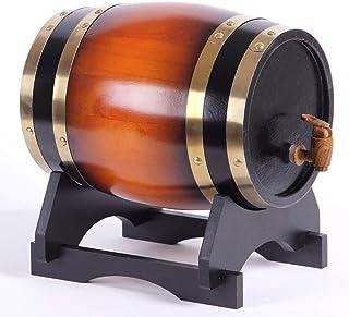 Tonneau de Vin en chêne Fût de chêne De chêne de vin Seau de stockage, Fût de whisky Distributeur Robinet en bois, Convien...