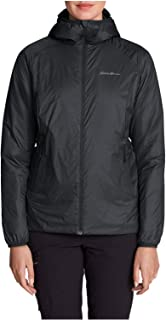 Women's EverTherm Down Hooded Jacket, Black Regular M