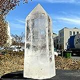 HSIOVE Cristal Blanco Natural Obelisk Crystal Power Columna Reiki (Color : W, Size : 2 2.2kg)