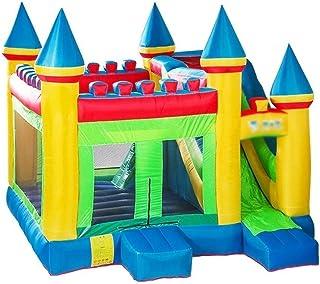 Castillo inflable Trampolín Inflable para Niños Castillo Hinchable Grande Trampolín De Relleno De Jardín Tobogán Inflable para Niños Jardín Infantil Juegos Infantiles