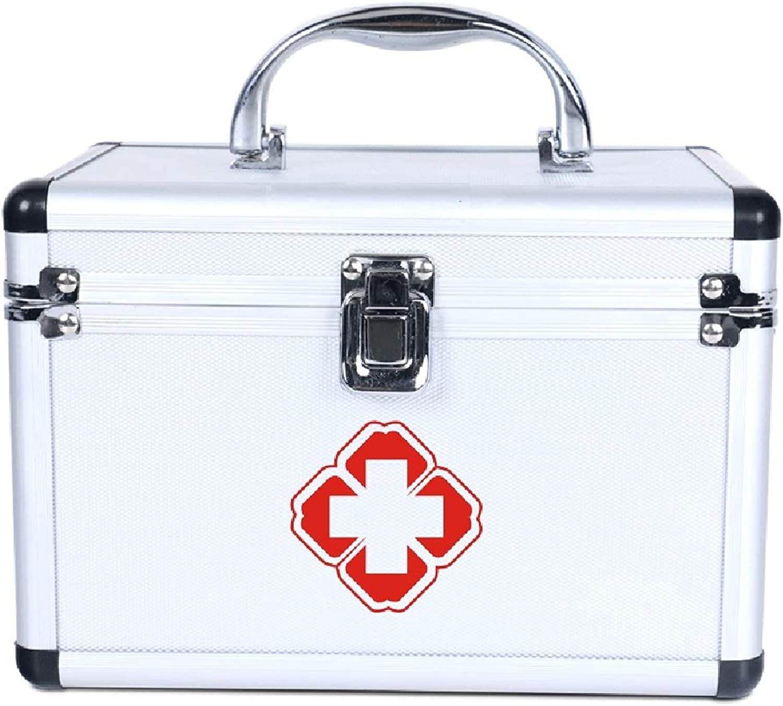Lsxlsd Home Emergency Medicine Box Multi-Layer Classification Aluminum Alloy Medical Kit Storage Medicine Box
