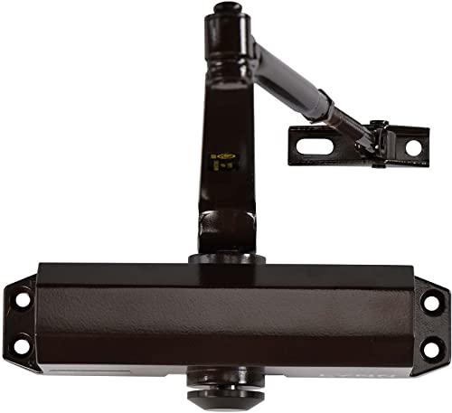 new arrival Light/Medium Designer Commercial Door Closer - LYNN Hardware DC5003 (US10B Dark Bronze) Surface Mounted, lowest Cast Aluminum - UL popular 3 Hour Fire Rated, Size 3 for Residential and Light Commercial Doors online