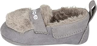 bebe Infant Girls Moccasin Slippers Size 3 Lightweight Slip-On Shoes Grey