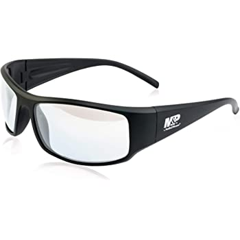 Smith & Wesson M&P Thunderbolt Full Frame Shooting Glasses with Impact Resistance and Anti-Fog Lenses for Shooting, Working and Everyday Use